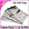 Yason mini zip bag on card small zip lock bag aluminum foil pouch with zipper