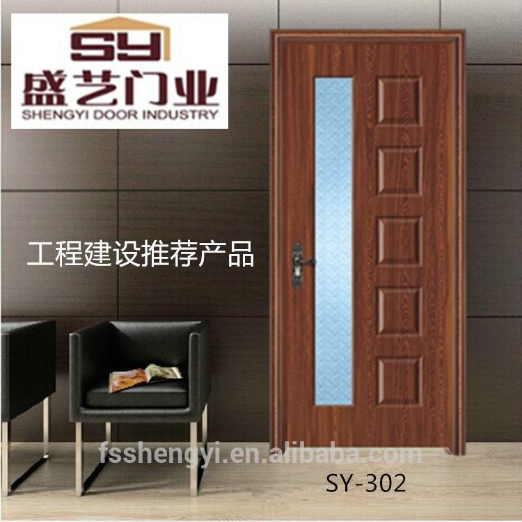 Interior de vidrio puerta de madera mdf puertas for Puertas de madera con vidrio para interior