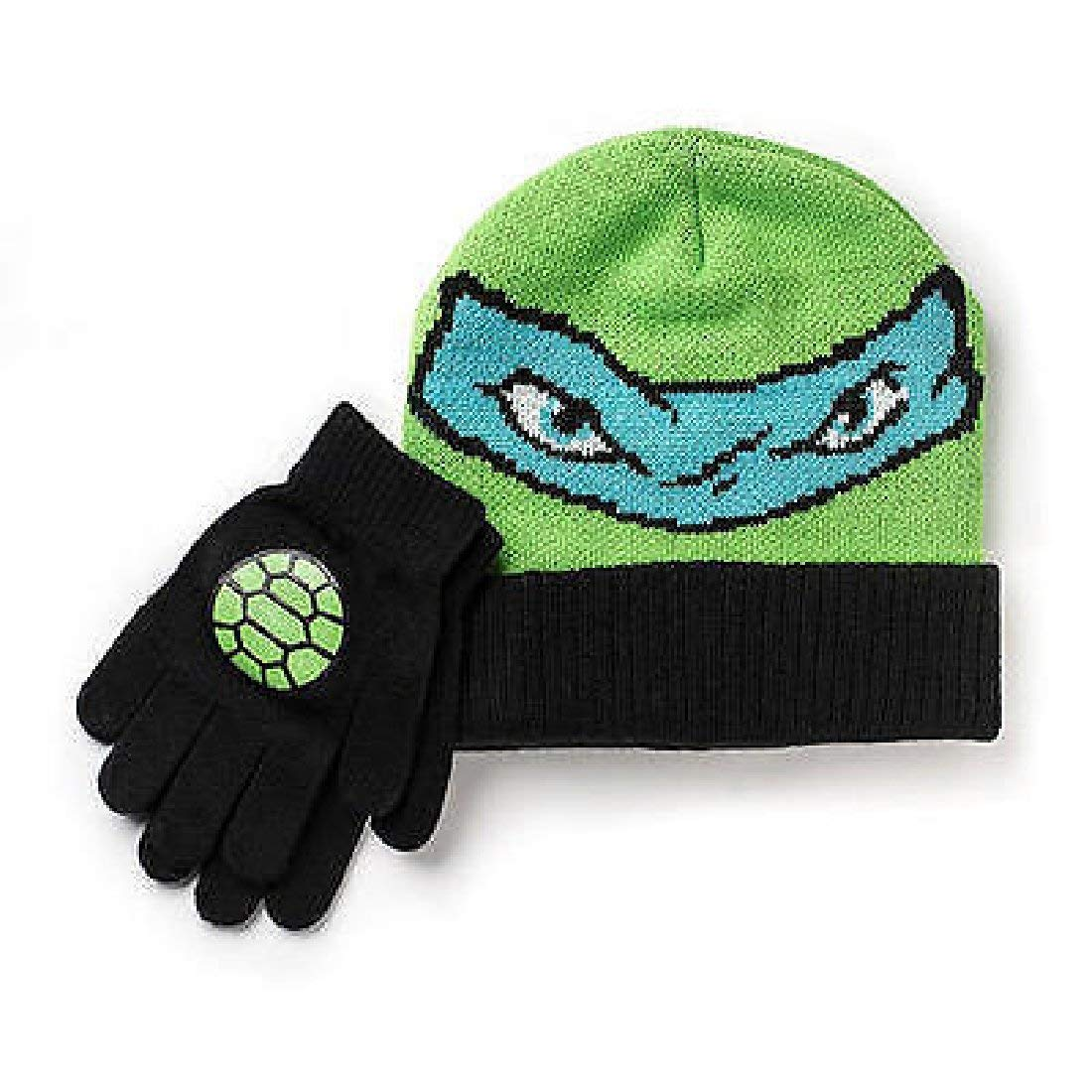 cc8fb0bb423 Get Quotations · Teenage Mutant Ninja Turtles Hat and Gloves Set Boys