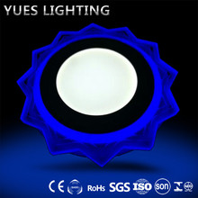 color change model recessed 18W+6W round/ square panel led lights made in china