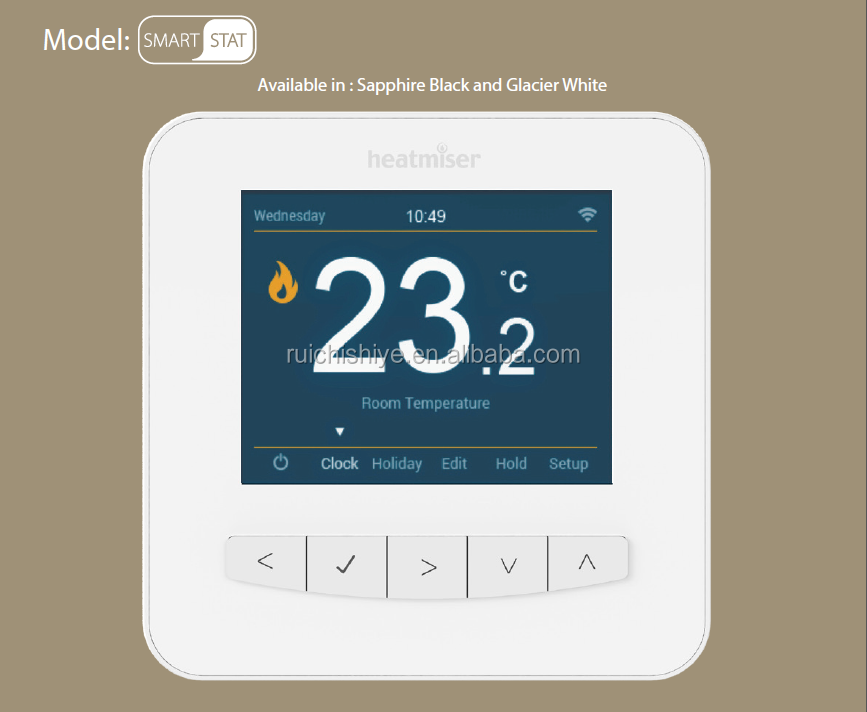 Wifi LCD thermostat for electric floor heating with English Version App on android and IOS phones room and floor temperature