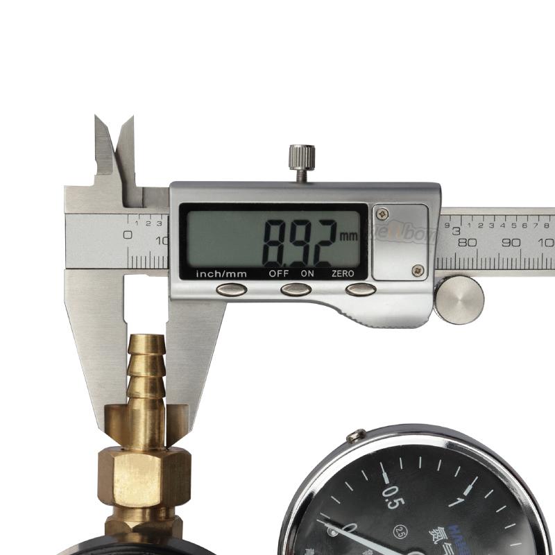 Dual Gauge Gas Regulator G 5/8 Nitrogen Gas Pressure Regulator with 5/16'' Barbed Outlet Connection