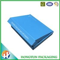Custom printed unique blue colored corrugated shipping box
