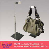 Classical adjustable height handbag shop furniture display rack