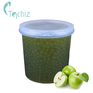 JB04 Green Apple flavor popping boba for Bubble tea