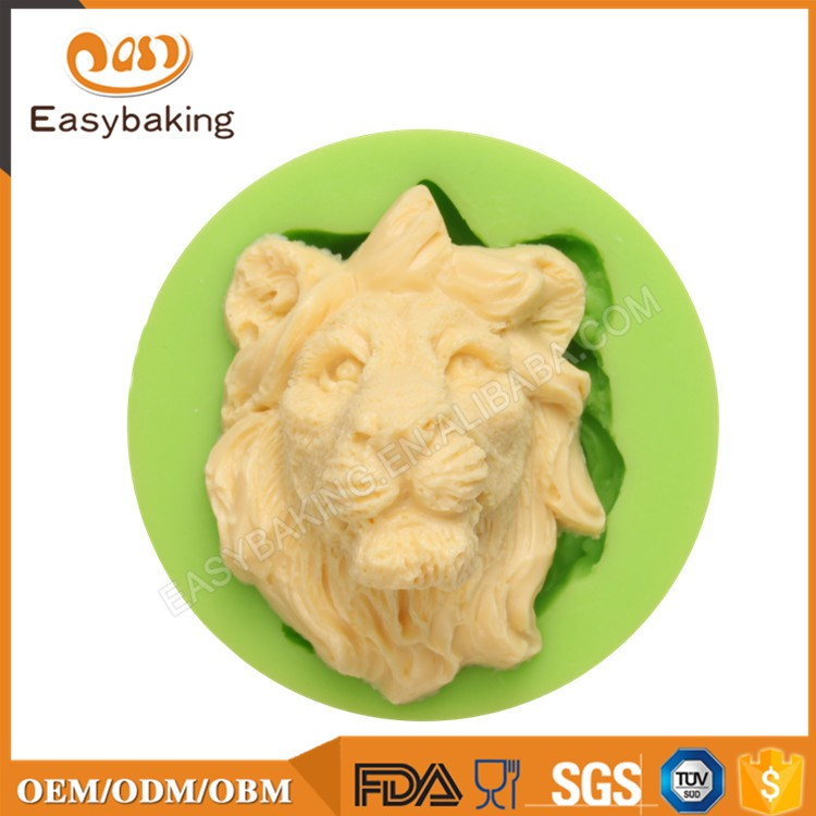 ES-0023 Lion Head Silicone Molds Fondant Mould for cake decorating