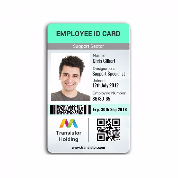 Pvc id badge printer and printing services.