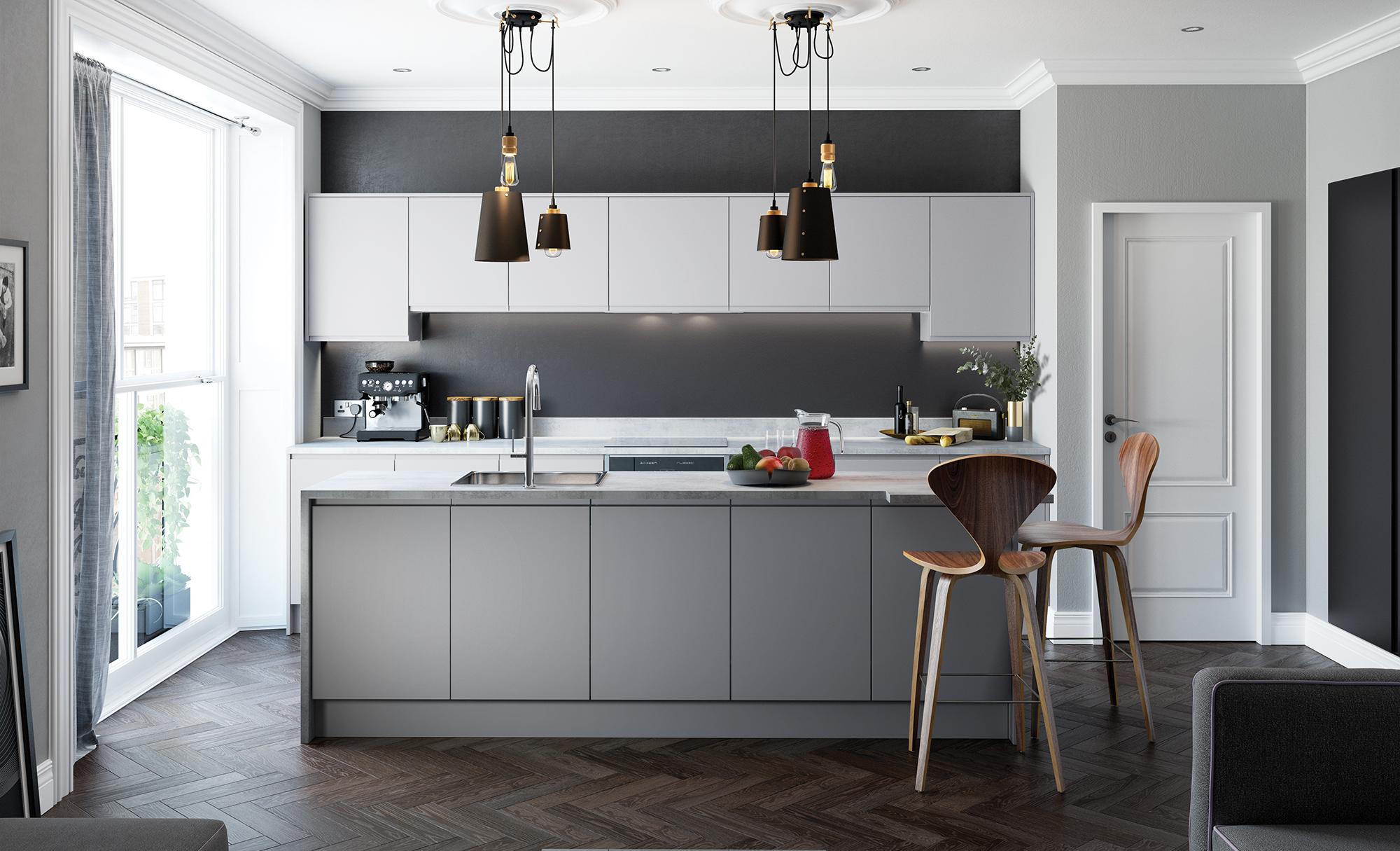 2019 Vermonhouse White Grey Matt Lacuqer Kitchen Modern Buy Kitchen Kitchen Modern Grey Kitchen Product On Alibaba Com