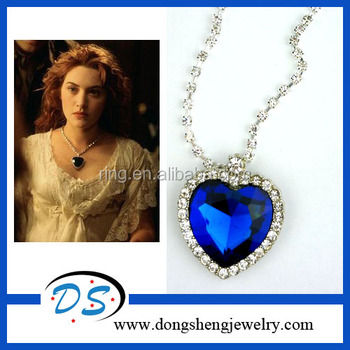 1998 movies titanic pretty heart of the ocean big crystal pendant 1998 movies titanic pretty heart of the ocean big crystal pendant necklace aloadofball Choice Image