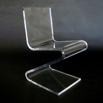 Clear Acrylic Z Shaped Lucite Chair