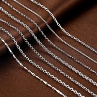 base chain 925 sterling silver jewelry necklace