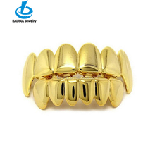 Gold plated plain hip hop <span class=keywords><strong>răng</strong></span> <span class=keywords><strong>grills</strong></span>