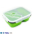 Collapsible Silicone Kids Food Containers Leakproof Tiffin Bento Lunch Box