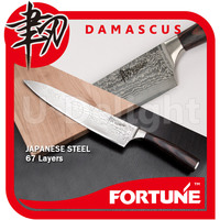 Japanese VG-10 damascus stainless steel Gyuto Chef kitchen knife with pakkawood handle