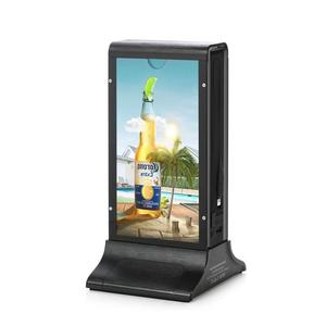Club Bar Hotel LED Display Plastic Restaurant Table Stand Acrylic Menu Holder with Advertising Paper