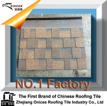 ONICES Fiberglass Asphalt shingle, China Supplier Colorful Coffee Brown/ Wine Red/ Green Stone Coated Roofing Tile