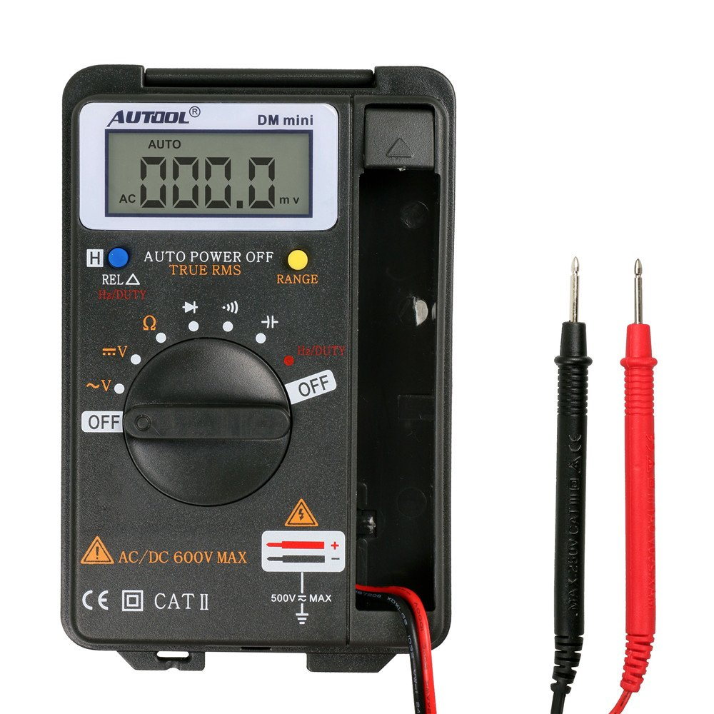 Autool Mini VC921 3/4 DMM AD/DC Multimeter Pocket Digital Multimeter Frequency Tester 4000 COUNTS