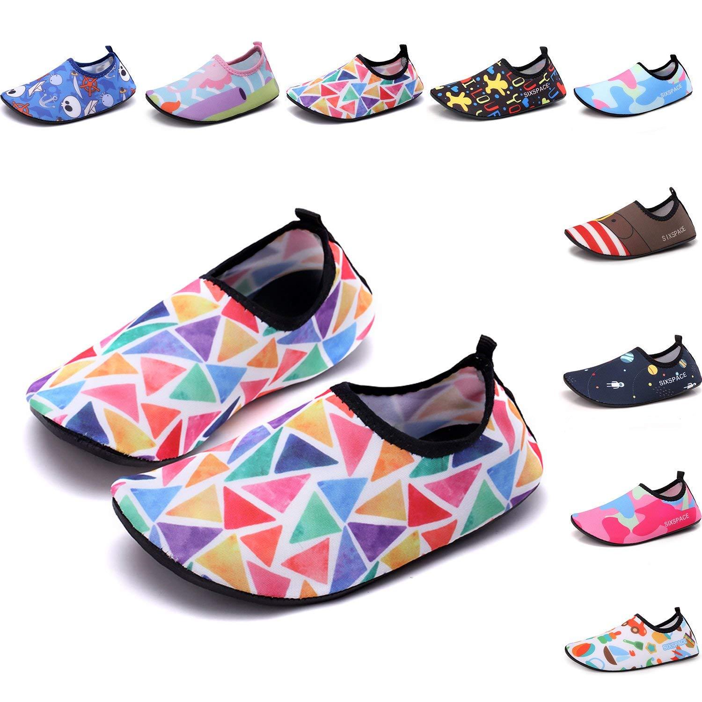 Ezire Women Men Water Shoes Barefoot Shoe Quick-Dry Aqua Socks for Summer Beach Swim Surf Yoga Exercise