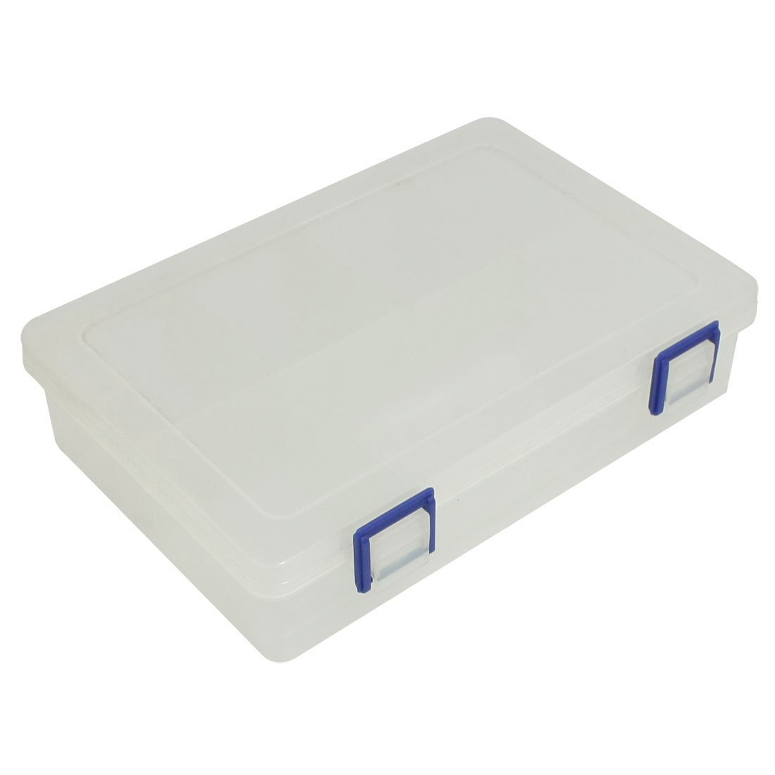 uxcell Plastic 8 Compartments Electronic Component Storage Box Case Clear White