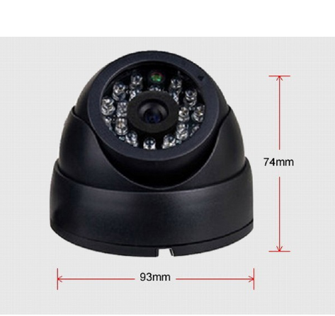 "Sicurezza 1/3 ""Sony Effio CCD 700TVL OSD menu 24 LED indoor Dome camera IR 30 m telecamera A CIRCUITO CHIUSO"