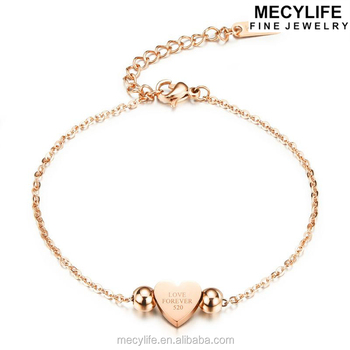 Cute Heart Charms 18k Rose Gold