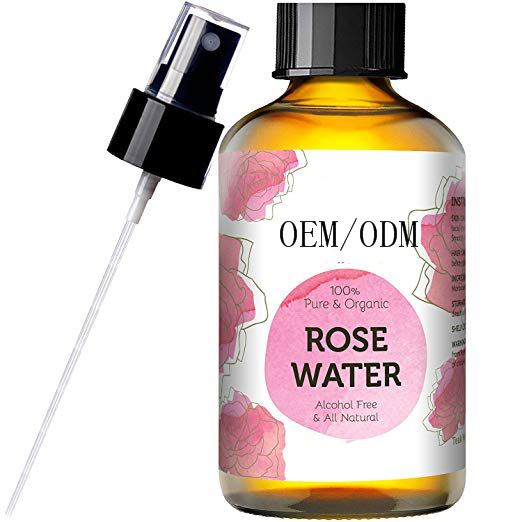 OEM/ODM Pure Rose Water Facial Toner Hand Made & Responsibly Sourced Skin Toner - Finest Purified Moroccan Rosewater
