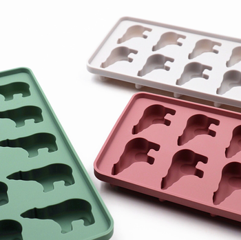 Cuite Animal Shape Custom Mini Ice Tray Cube For Cooking Ice Tray Silicone