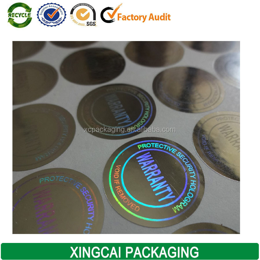 electronics 3d round hologram sticker