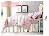 2015 new design princess style beautiful floral pattern 100% cotton printed duvet cover queen