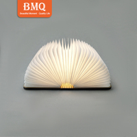 cheap gift item mini folding book lamp rechargeable book shaped led book light with color lights