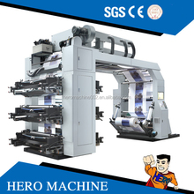 High Speed Foil PVC UV Stack BOPP PE Label Paper CUP Plastic Film Bag 2 6 8 4 Colour Flexographic Flexo Printing Machine Price