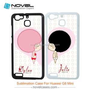 Sublimation Plastic cell Phone Case for huawei G8 mini, customized design blanks