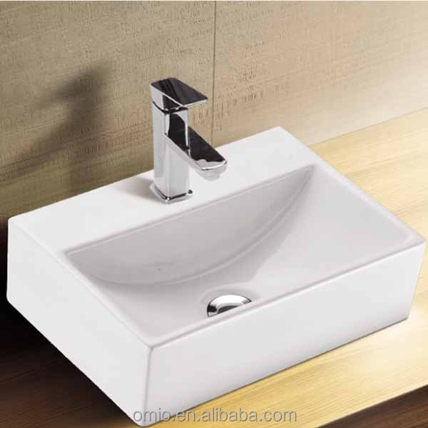 Bathroom Art Ceramic Wash Basin With Single Hole European style basin