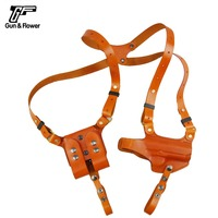Italy Full Grain Leather Gun Shoulder Holster Fits M1911 Glock 17 Beretta M92F