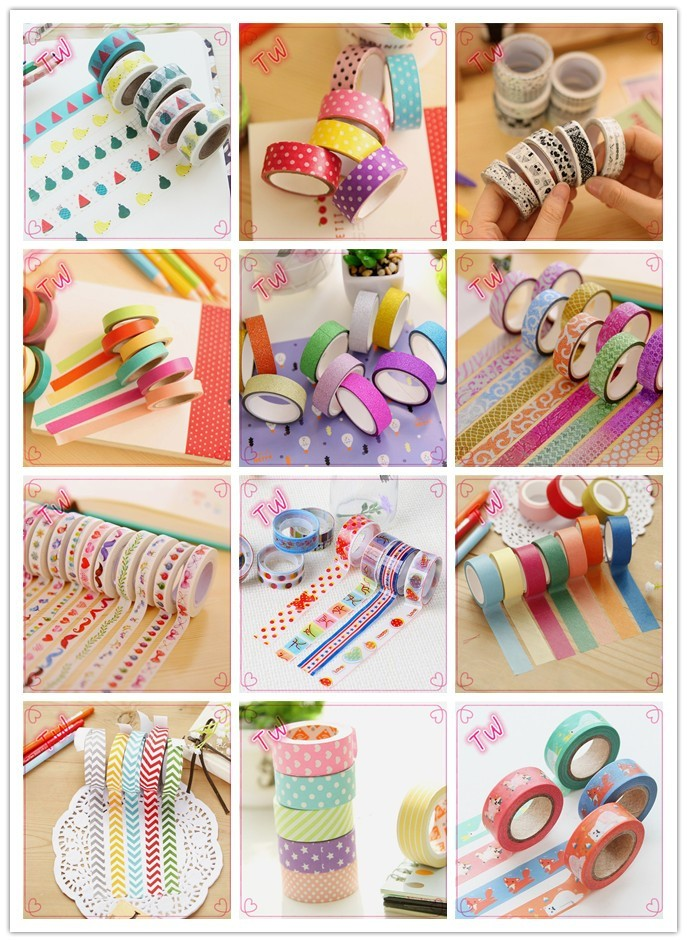 logo printed school supplies wholesale korean fancy stationery gifts novelty paper adhesive tape small moq