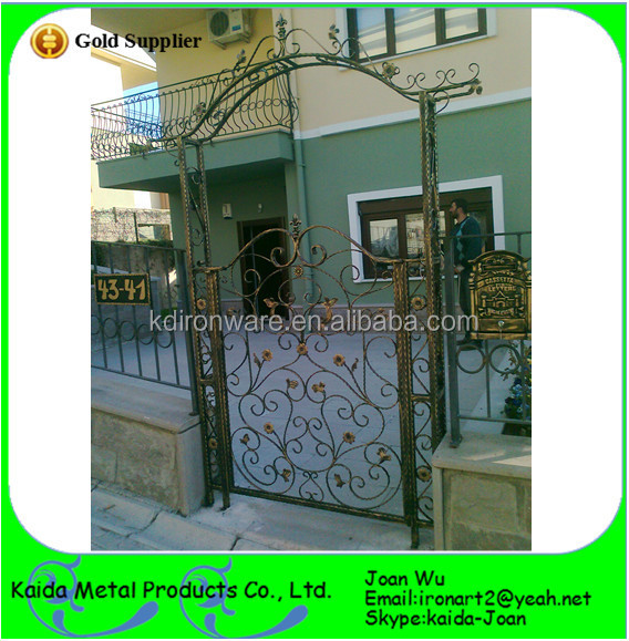 Very Strong Wrought Iron Pipe Main Gate Design