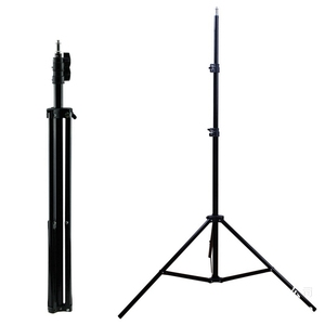professional 2 meter shrink phone camera light stand tripod lamp for video shooting
