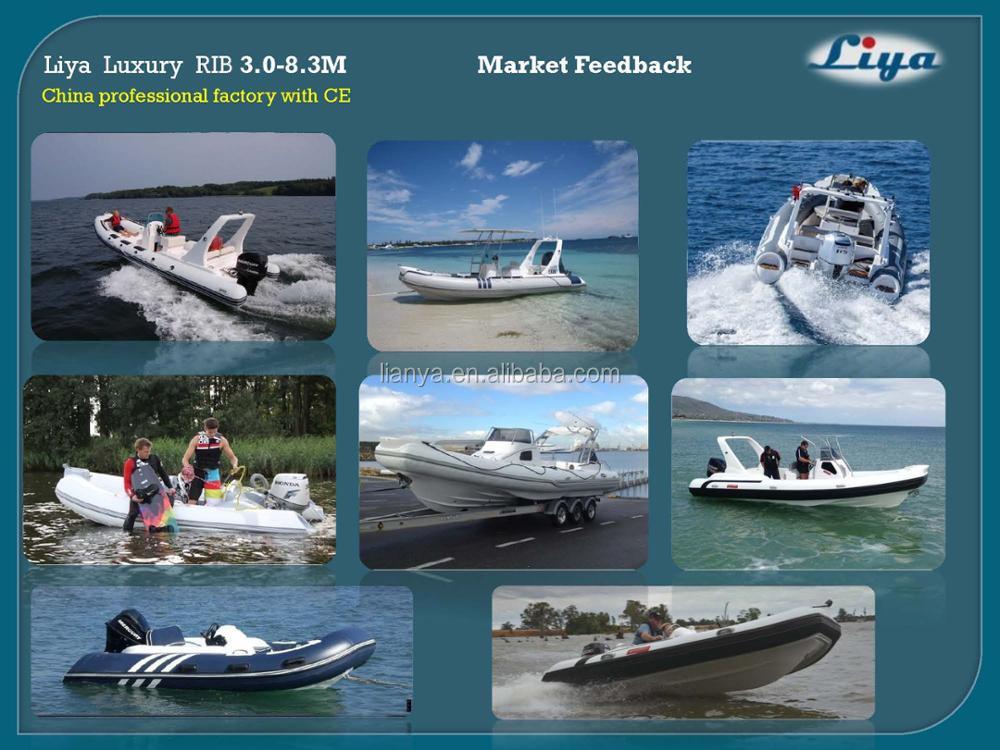 Liya 3 A 8.3 M Casco Rígido Botes Inflables China Costilla Barcos ...