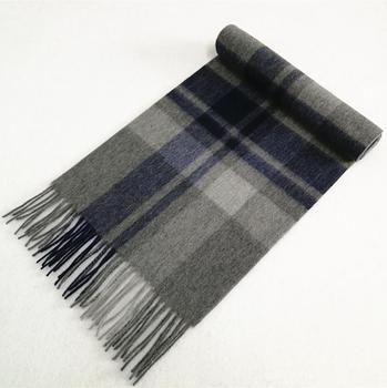 Tartan Plaid Color Men's Wool Scarf Thick Winter Wool Scarf