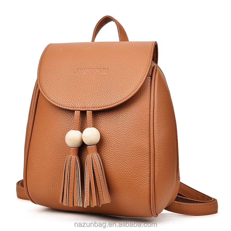 cheap price school backpack with rivets women PU leather fashion backpacks for girls