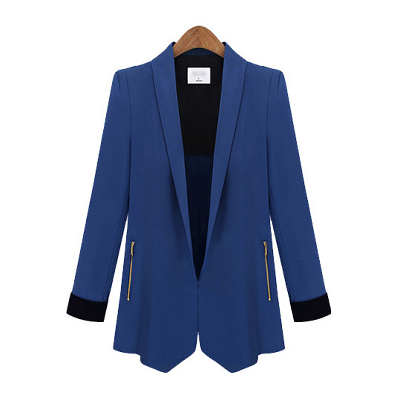 3d10ec1163d Get Quotations · New style Spring Summer Autumn Winter for women ladies  fashion blazers hidden breasted casual blazers