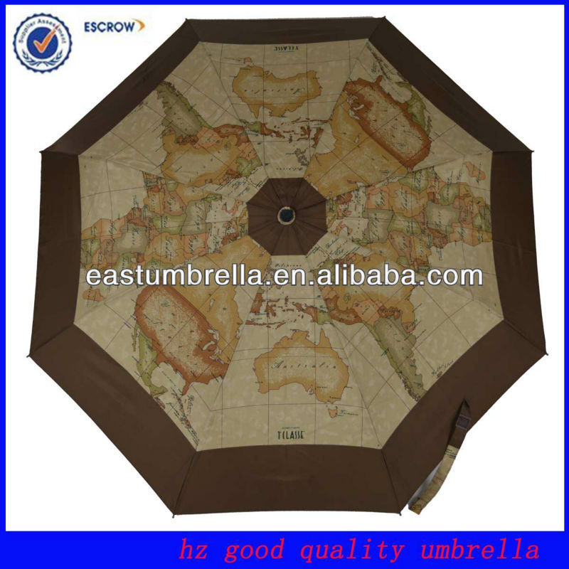 Special World Map Print Promotional Umbrella
