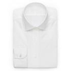 Custom Design Classic White Oxford Pinpoint Cut Away Mens Dress Shirt