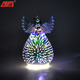 New fashion decorative 3D firework effect indoor led glass lighted angel