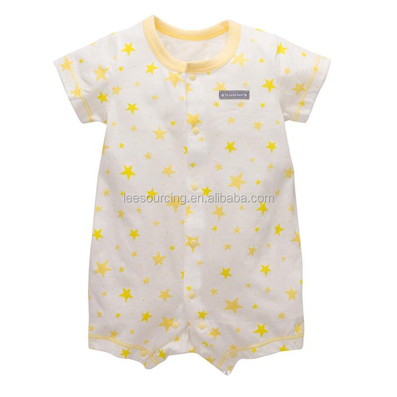 Wholesale 100% Cotton Short Sleeve Start Printing Baby ...