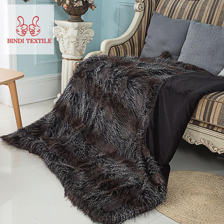 Hoge kwaliteit goedkoop betrouwbare en Goedkope giant gebreide fleece faux fur worp deken