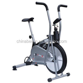 Home gym fitness trainer cardio exercise air bike 2 flywheel