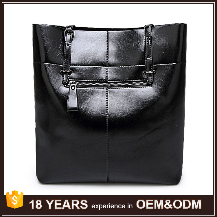 High Quality PU leather Large Hand carry tote bag female fashion shoulder bag for Office Ladies