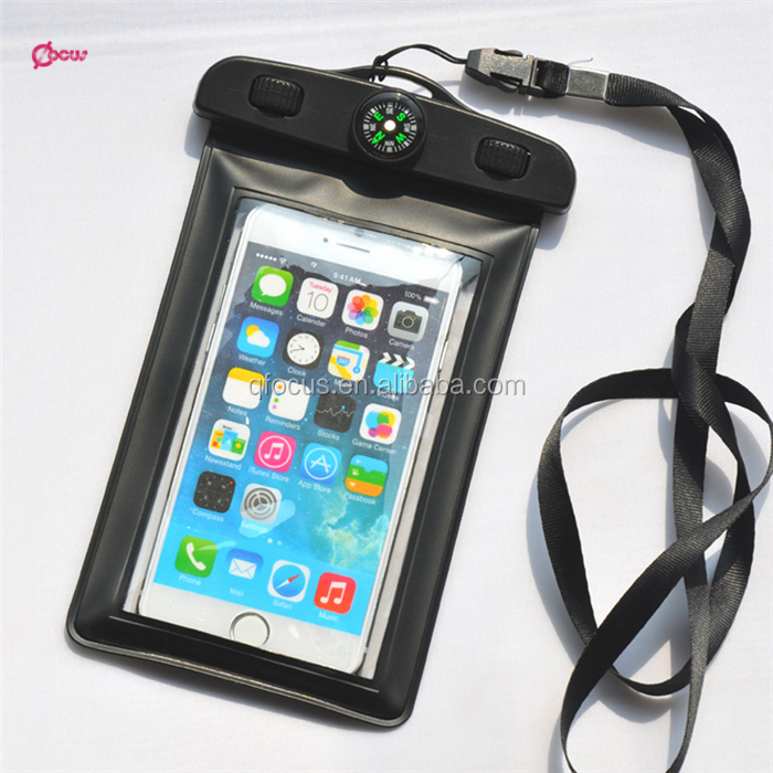 PVC waterproof mobile phone pouch,swimming compass waterproof dry bag cell phone