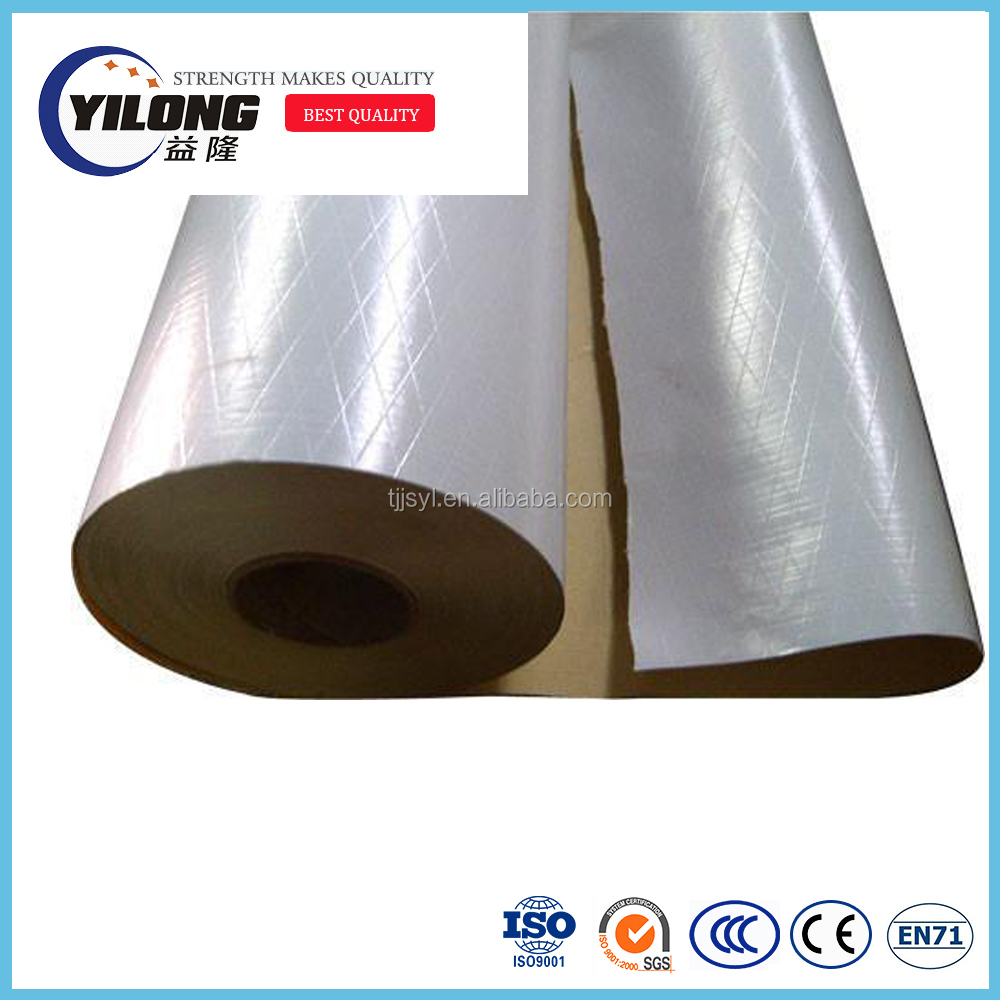Foil backed faced insulation polyester scrim